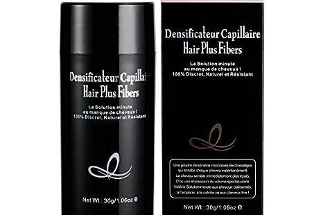 HAIR PLUS frasco 30 G Negro Polvo densifiante máscara la calvicie y cabello escasa: Amazon.es: Belleza