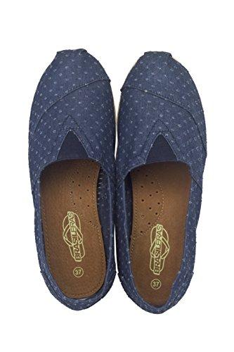 Brasileras Tejano - Alpargatas unisex, color azul, talla 45
