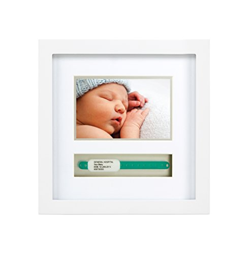 Pearhead Baby Hosipital ID Bracelet and Photo Keepsake Frame, White (Photo Frame Baby Boy)