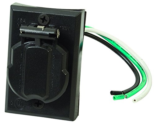 Solo Lights Electrical Outlet for Outdoor Lamp Post and Poles. Convenience Grounded Replacement Hardwire Plug Accessory