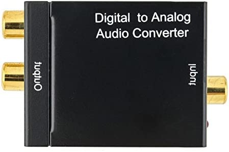 XuBa Digital Optical Coax to Analog RCA L//R Audio Converter Adapter with Fiber Cable /& USB Cable /& Mainframe