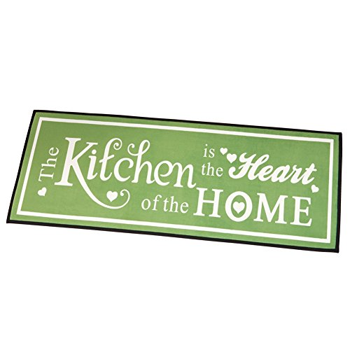 Heart Of The Home Skid-Resistant Kitchen Novelty Rug, Sage G