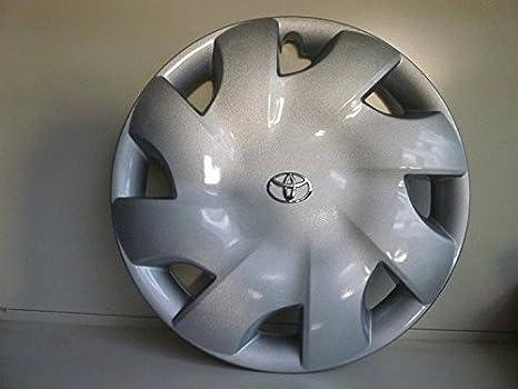 Juego de Tapacubos 4 Corpicerchio Diseño Toyota Iq Desde 2009 r 15 () Logo Cromado: Amazon.es: Coche y moto
