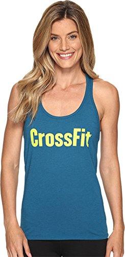 Reebok Women's CrossFit Forging Elite Fitness Tank Top Emerald Tide Tank Top