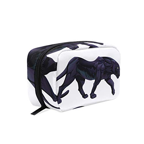 Makeup Bag Art Cool Animal Black Panther Cosmetic Pouch Clutch