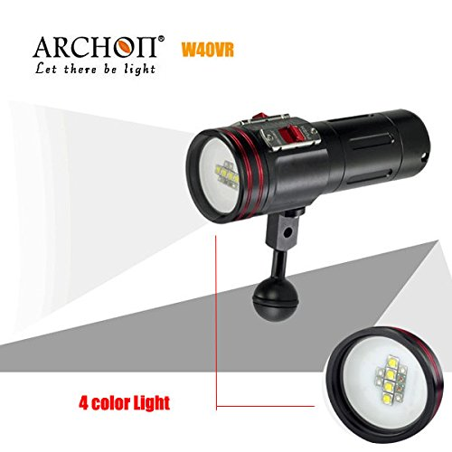 Bazaar ARCHON W40VR 100M Video Photograpy Diving 4 Farbe LED Taschenlampe