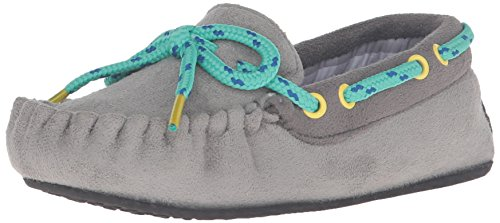 th Plaid Lining Mocassin Shoe Moccasin, Blue, 11/12 M US Little Kid ()