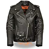 Milwaukee Women's Full Length Motorcycle Jacket with Side Lace