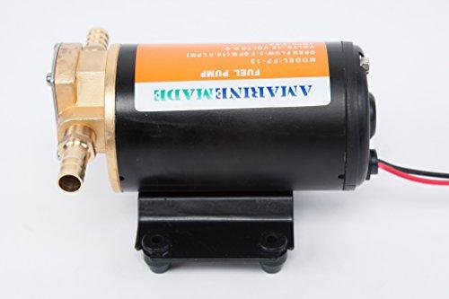 Amarine-Made 12v Scavenge Impellor Gear Pump- For Diesel Fuel Scavenge Oil Transfer (Sump Oil Diesel)