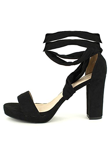 Peau Chaussures Sandale Cinks Noir Cendriyon Simili Noire Femme HCEq18wp