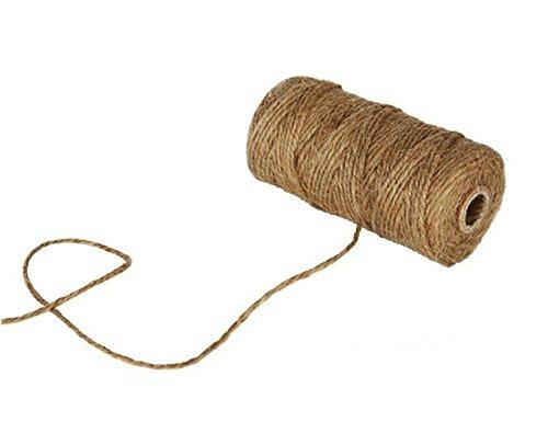 Lumanuby 1 Rollo De Cordel De Yute Natural Vintage De Cuerda De Cáñamo Para Bricolaje Artes Manualidades Y Decoración Materiales Para Jardinería