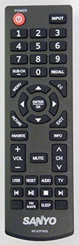 Sanyo BRAND NEW MC42FN00 LED-LCD HDTV REMOTE CONTROL For