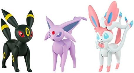 Bizak Pokémon - Pack de 3 Figuras de Espeon, Umbreon y Sylveon 30698524: Amazon.es: Juguetes y juegos
