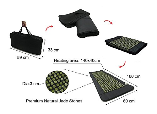 UTK Far Infrared Natural Jade Heating Pad for pain relief, Large Full Body Size(24''x 70'') by UTK (Image #4)'