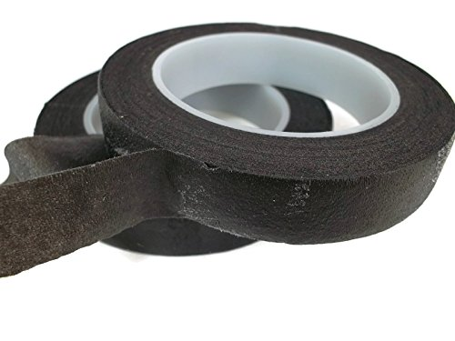 Floral Tape Black 4 Rolls 30 Yards Foral Dark Glue Cohesive 12 mm Pair Artificial Flower Stem Tool