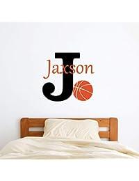 Custom Name Basketball Wall Decal - Boys Girls...
