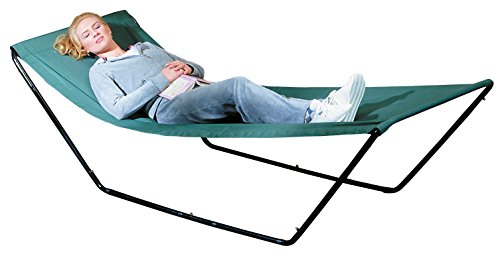 Portable Hammock – Space Saving Outdoor Foldable Free-Standing Hammock – Nylon Fabric with Steel...