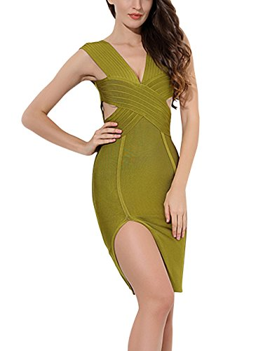 olive bandage dress - 3