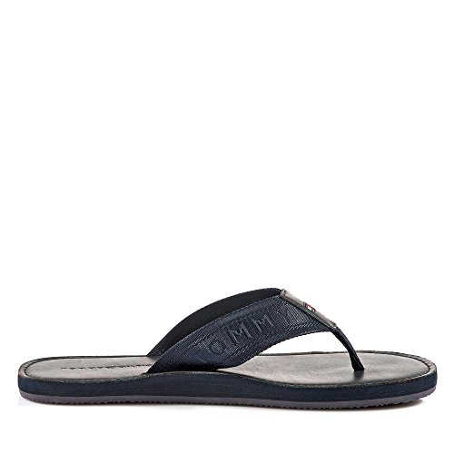 bb5ebfefdbf Tommy Hilfiger Jaquard TH Leather Beach Sandal - Midnight (Navy) Mens  Sandals 41 EU  Amazon.co.uk  Shoes   Bags