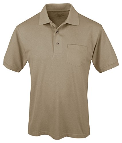 Tri Mountain Mens Peak Performers Easy Care Pocket Shirt Khaki L