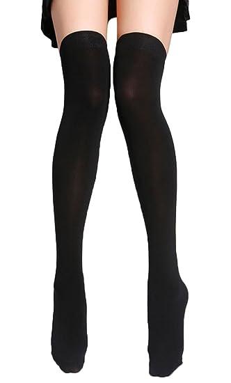 4047204a1927e UwantC Women High Stretch Warm Thigh High Over The Knee Socks Long Stockings ,Black
