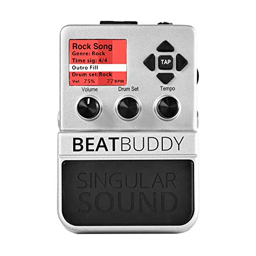 Singular Sound BeatBuddy the First Guitar Effect Pedal Hands Free Drum Machine and Visual Metronome (Download Kits Drum)
