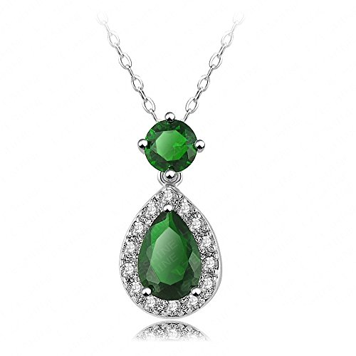 Vicheer Emerald Drop Pendant Necklace for Women Fashion Jewelry 18k Platinum Sets (Homemade Cowboys And Indians Costumes)