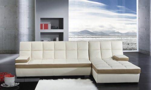 Amazon.com: Italian Leather Sectional Sofa Set - Arran ...