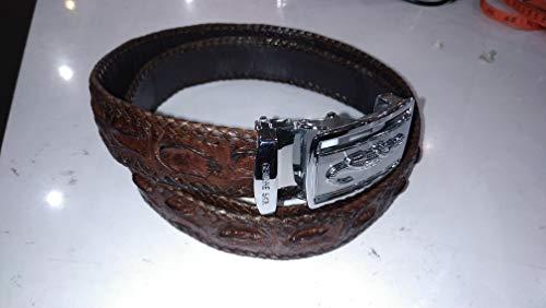 Men's Crocodile Hornback Belt. Coffee Color. Made in ()