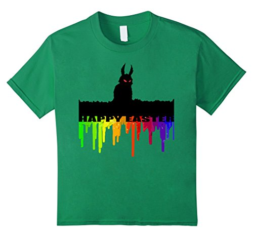 Kids Funny and Twisted Easter T-Shirt - Evil Easter Bunny Tee 12 Kelly Green (Evil Easter Bunny)
