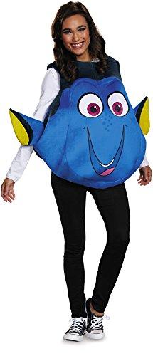 Dory Costume (Disney Women's Finding Dory Costume, Blue, One)