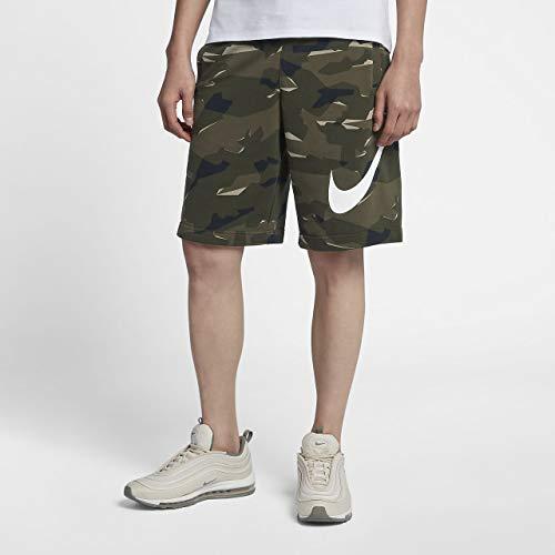 Nike Mens Club Camo Sweat Shorts Cargo Khaki/White AQ0602-325 Size Large (Club Training Short)