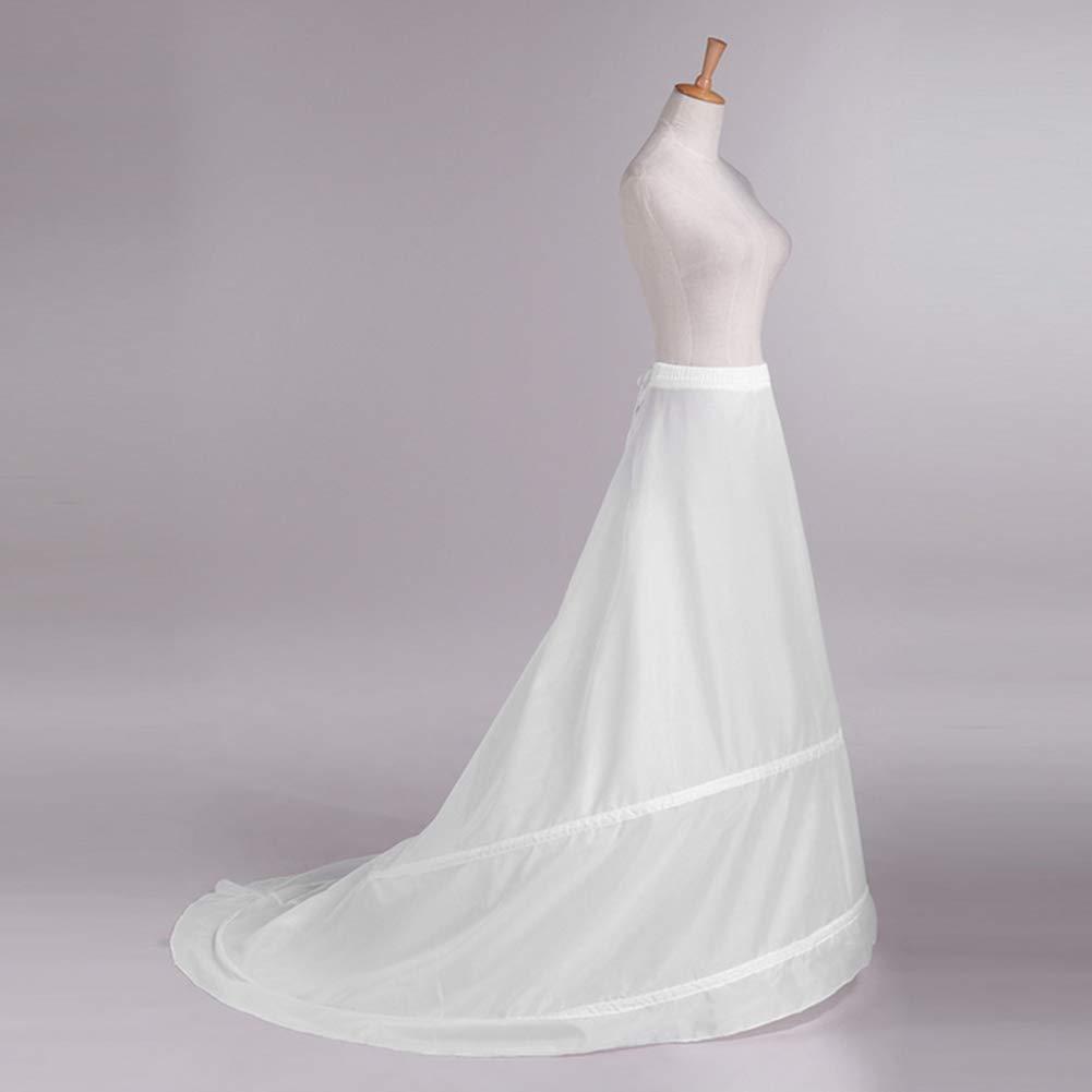 Mootea 2 cerceaux A-Ligne Longue Jupon Robe De Mari/ée Robe De Mariage Petticoat Crinoline Blanc