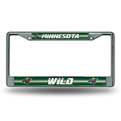 ild Bling Chrome License Plate Frame with Glitter Accent (Minnesota License Plate Tag)