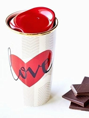 Starbucks Valentine's Day Double Wall Traveler Mug, 10 Fl Oz (11043795) by Starbucks