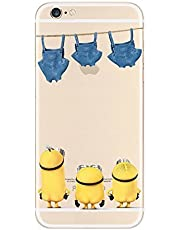 New Disney trasparente Cartoons character Minnions and others trasparente in poliuretano termoplastico per iPhone-Cover per iPhone (iphone 7 /iphone 8, Minions Starring Pants)