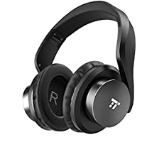 Wireless Headset, TaoTronics Over Ear Bluetooth Headphones with Deep Bass & 25 Hours Playtime (Memory Foam Ear Pads, Dual 40 mm drivers, On Ear Control Buttons)