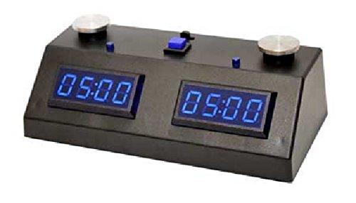 ZMF-II Chess Clock - Black with Blue - Chess Clock