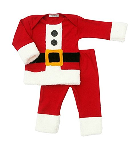 StylesILove Baby Boy Holiday Christmas Santa 2-PC Costume Outfit (12-18 Months) (Baby Santa Outfit For Boy)