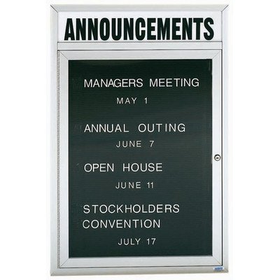 Directory Cabinet Enclosed Wall Mounted Letter Board Frame Color: Clear Satin Anodized, Number of Doors: Three, Size: 36