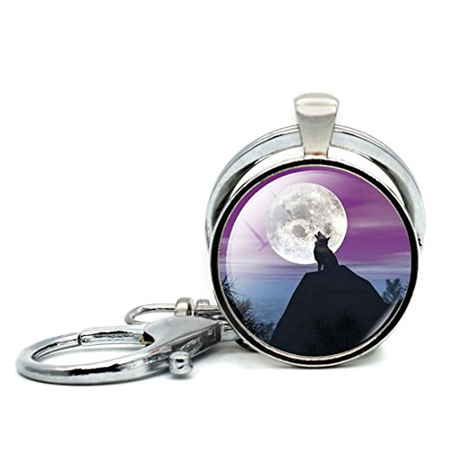 Small Twin Loop - Round Shape Keychain Loops Colorful Twin Flames With Raven Keyring Key Chain Ring Key