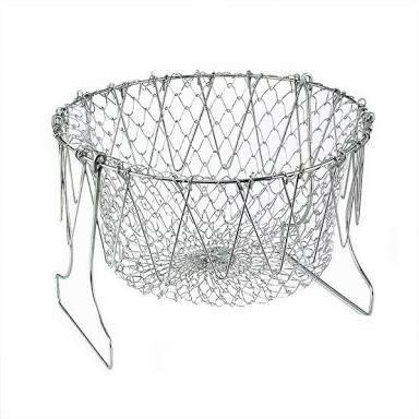 MTT Flexible Steamer Basket, Flexible Vegetable steamer Size 9 inches by MTT