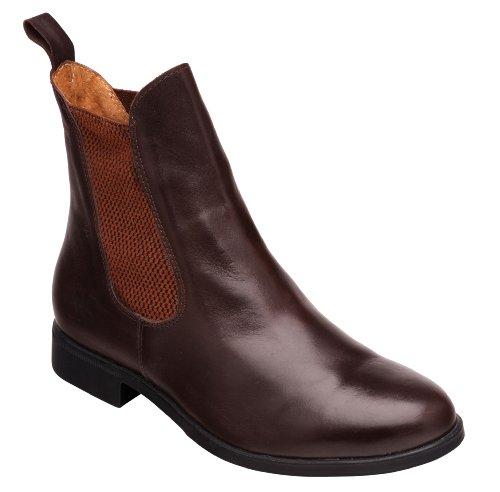 Harry Hall TEX Childrens Silvio Leather Jodhpur Boots (3 US) (Brown)