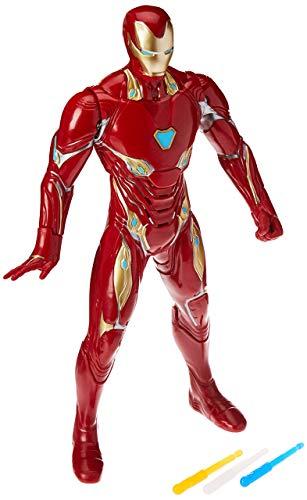 Boneco Homem de Ferro Eletrônico, Avengers, Vermelho/Amarelo
