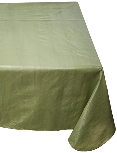 Carnation Home Fashions Vinyl Tablecloth with Polyester Flannel Backing, 52-Inch, by 70-Inch, Sage