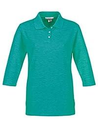 Tri-Mountain Women's Aurora 3/4 Sleeve Pique Knit Golf Shirt (10 Colors, XS-4XL)