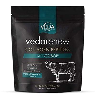 VEDArenew Collagen with VERISOL Bioactive Collagen Peptides | 100% Pure | 16 oz. (454 Grams)