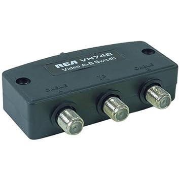 Auténtica Deluxe RCA 2 way a/b Cable Coaxial interruptor - (apantallado extra,