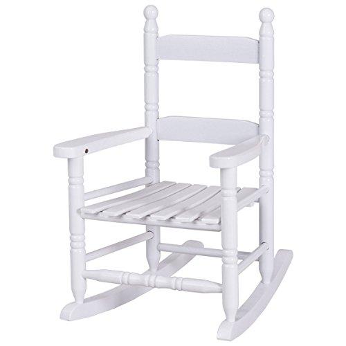 Vintage Indoor/Patio/Porch Solid Wooden Child Nursing Rocker Rocking Chair White
