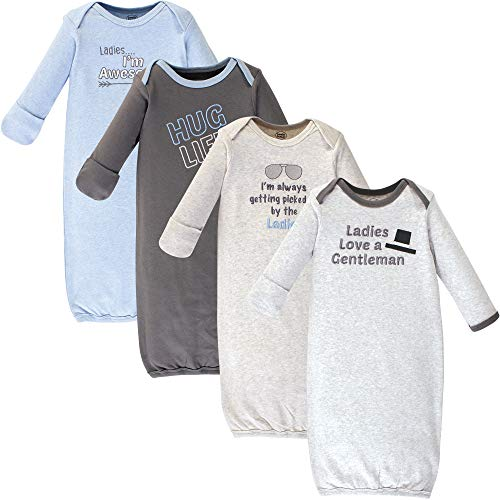 Baby Gown Sleepwear - Luvable Friends Baby Cotton Gowns, Ladies Pack, 0-6 Months